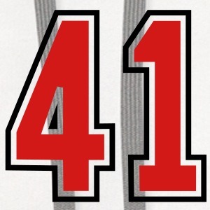 41 sports jersey football number T-SHIRT - Contrast Hoodie