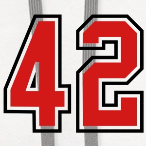 42 sports jersey football number T-SHIRT - Contrast Hoodie