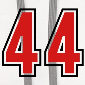44 sports jersey football number T-SHIRT - Contrast Hoodie
