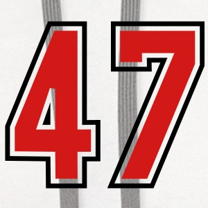 47 sports jersey football number T-SHIRT - Contrast Hoodie
