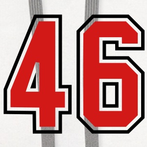 46 sports jersey football number T-SHIRT - Contrast Hoodie