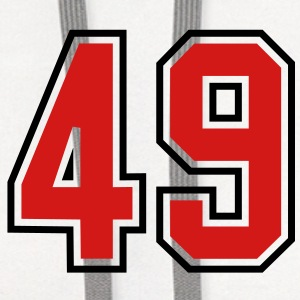 49 sports jersey football number T-SHIRT - Contrast Hoodie