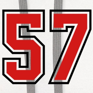 57 sports jersey football number T-SHIRT - Contrast Hoodie