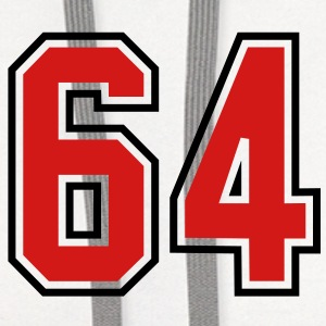 64 sports jersey football number T-SHIRT - Contrast Hoodie