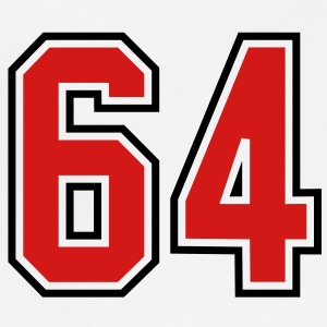 64 sports jersey football number T-SHIRT - Adjustable Apron