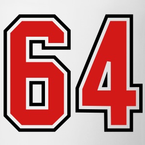64 sports jersey football number T-SHIRT - Coffee/Tea Mug