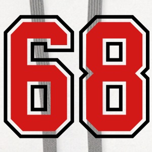 68 sports jersey football number T-SHIRT - Contrast Hoodie