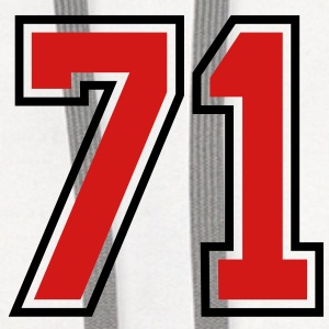 71 sports jersey football number T-SHIRT - Contrast Hoodie