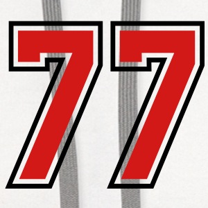 77 sports jersey football number T-SHIRT - Contrast Hoodie