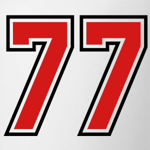 77 sports jersey football number T-SHIRT - Coffee/Tea Mug