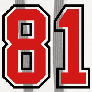81 sports jersey football number T-SHIRT - Contrast Hoodie