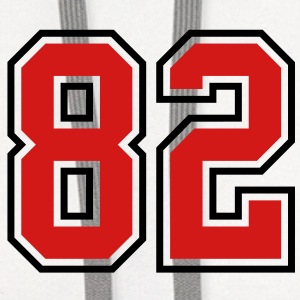 82 sports jersey football number T-SHIRT - Contrast Hoodie