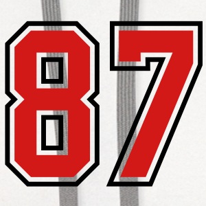 87 sports jersey football number T-SHIRT - Contrast Hoodie