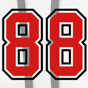 88 sports jersey football number T-SHIRT - Contrast Hoodie