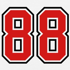 88 sports jersey football number T-SHIRT - Men's Premium Tank