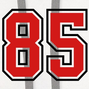 85 sports jersey football number T-SHIRT - Contrast Hoodie