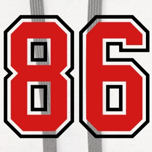 86 sports jersey football number T-SHIRT - Contrast Hoodie