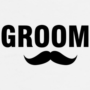 Groom-stache Mugs & Drinkware - Men's Premium T-Shirt