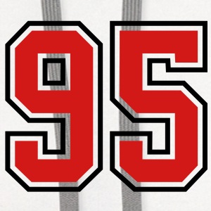 95 sports jersey football number T-SHIRT - Contrast Hoodie