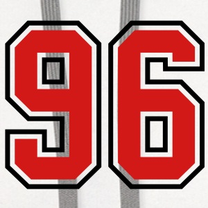96 sports jersey football number T-SHIRT - Contrast Hoodie