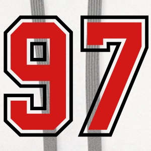 97 sports jersey football number T-SHIRT - Contrast Hoodie