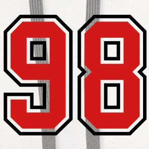 98 sports jersey football number T-SHIRT - Contrast Hoodie
