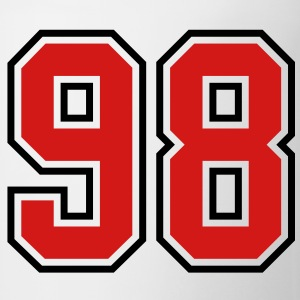 98 sports jersey football number T-SHIRT - Coffee/Tea Mug