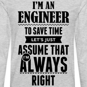 I Am An Engineer To Save Time.... Women's T-Shirts - Men's Premium Long Sleeve T-Shirt