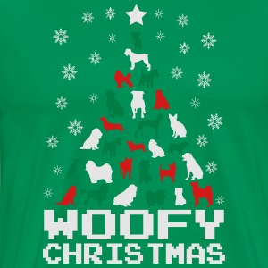 Woofy Christmas Tree Hoodies - Men's Premium T-Shirt