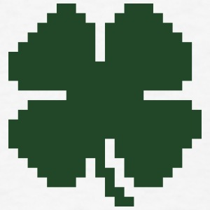 8 Bit Luck Pixel Four Leaf Clover Baby Bodysuits - Men's T-Shirt