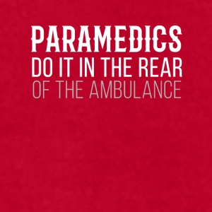 Paramedics in the rear of the Ambulance T-shirt Mugs & Drinkware - Men's T-Shirt by American Apparel