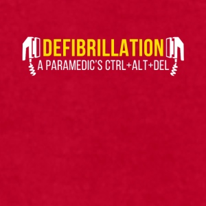 Defibrillation a Paramedic's CTRL+ALT+DEL T-shirt Mugs & Drinkware - Men's T-Shirt by American Apparel