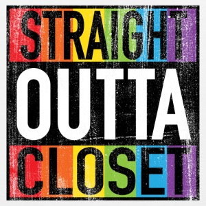 Straight Outta Closet Funny LGBT Pride Mugs & Drinkware - Men's Premium Tank