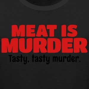 Meat Is Murder Tasty Tasty Murder T-Shirts - Men's Premium Tank
