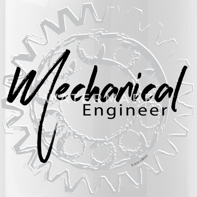 Mechanical Engineer Gear Sketch Mugs & Drinkware - Water Bottle
