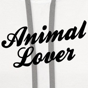 animal lover t-shirt - Contrast Hoodie