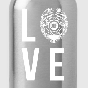 Love Police Policeman T-shirt Women's T-Shirts - Water Bottle