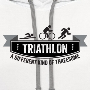 Triathlon – a different kind of threesome - Contrast Hoodie