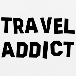 travel addict t-shirt - Men's Premium Tank