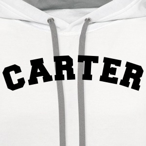 carter name surname sports jersey curved t-shirt - Contrast Hoodie