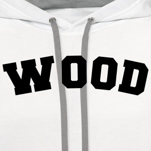 wood name surname sports jersey curved t-shirt - Contrast Hoodie
