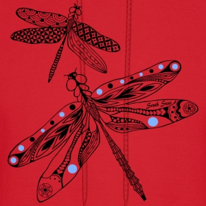 Dragonfly black and blue Women's T-Shirts - Men's Hoodie
