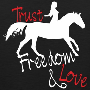 Trust! Freedom! Love! Women's T-Shirts - Men's Premium Tank