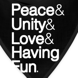 Peace Unity Love & Fun T-Shirts - Bandana
