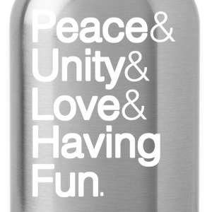 Peace Unity Love & Fun T-Shirts - Water Bottle