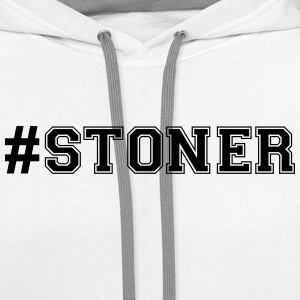 hashtag stoner varsity college style tex t-shirt - Contrast Hoodie
