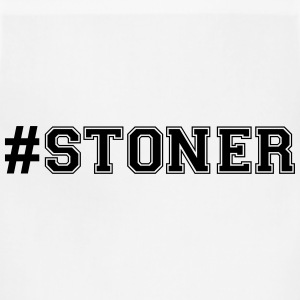 hashtag stoner varsity college style tex t-shirt - Adjustable Apron