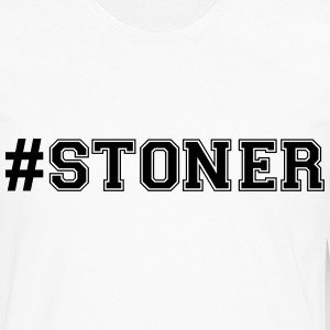 hashtag stoner varsity college style tex t-shirt - Men's Premium Long Sleeve T-Shirt