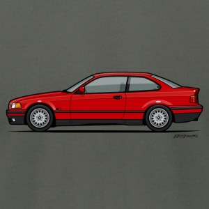 Red BMW 3-Series E36 Coupe Hoodies - Men's T-Shirt by American Apparel