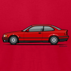 Red BMW 3-Series E36 Coupe Long Sleeve Shirts - Men's T-Shirt by American Apparel